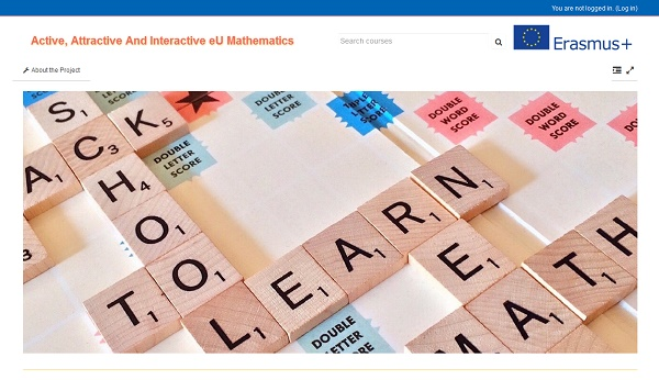 Plataforma Moodle do Active, Attractive And Interactive eU Mathematics