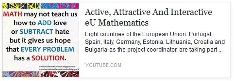 Active, Attractive And Interactive eU Mathematics no Youtube