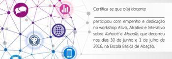 Workshop Ativo, Interativo e Atrativo