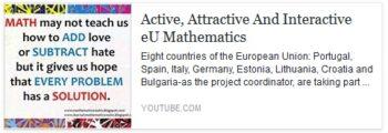 Active, Attractive And Interactive eU Mathematics no Youtube